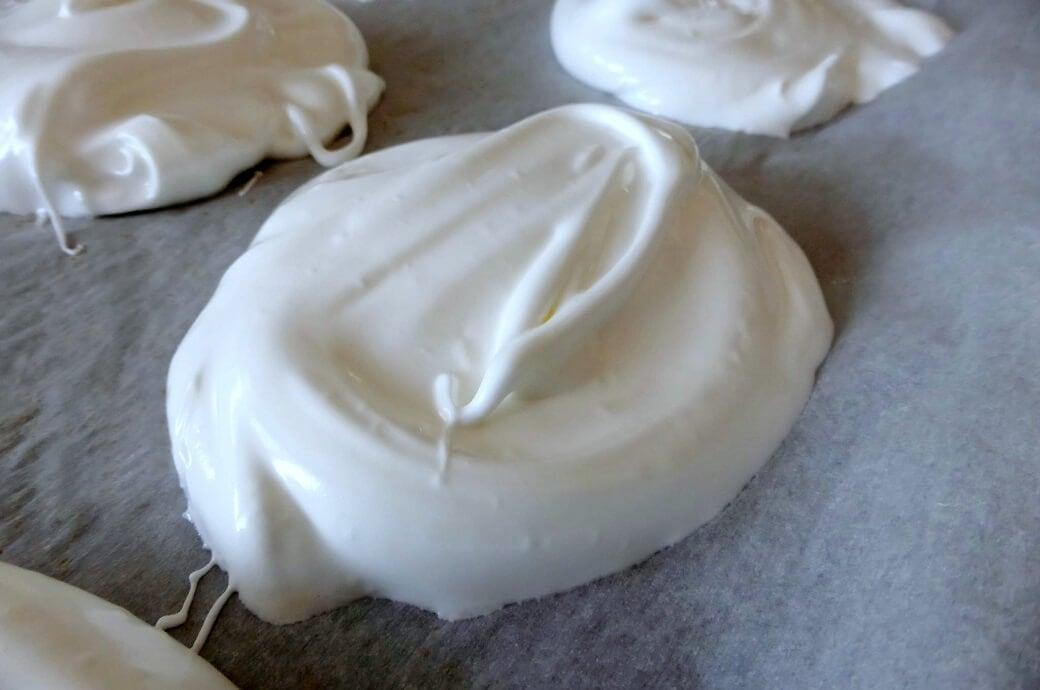 Meringues on a baking sheet