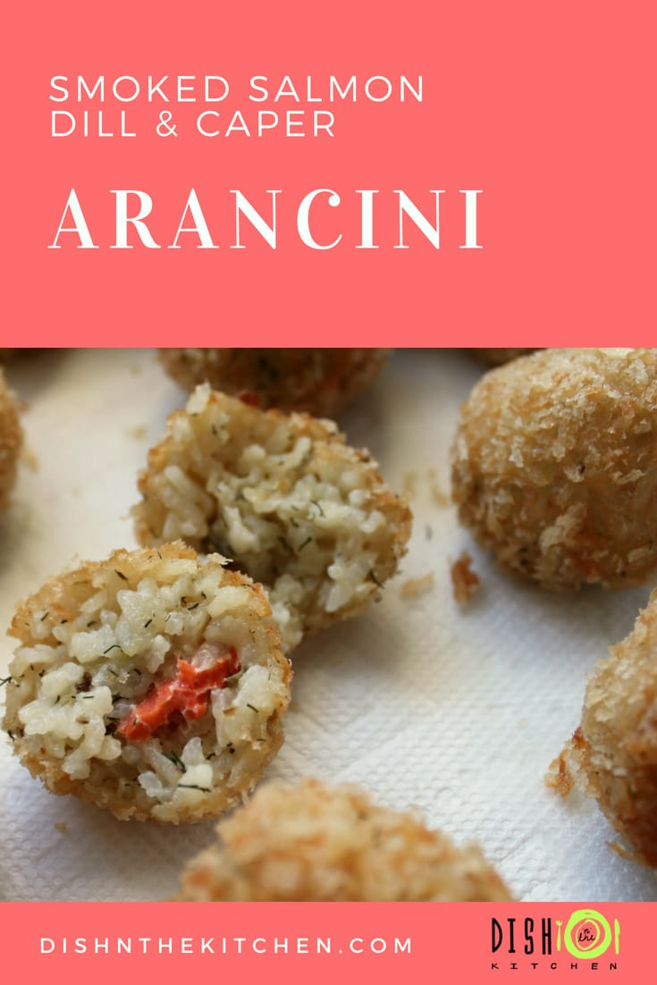 These Smoked Salmon Arancini with Capers and Dill are the ultimate treat. Deep fried glorious little balls of risotto surround little bites of Smoked Salmon and Capers to give these Arancini a unique spin on an old favourite.