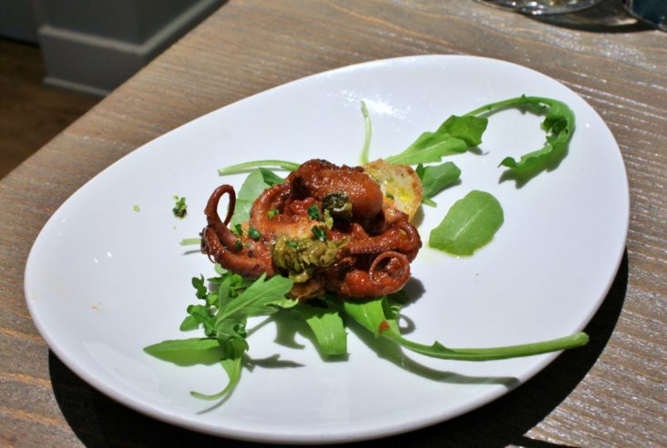 charred octopus from Home Tasting Room