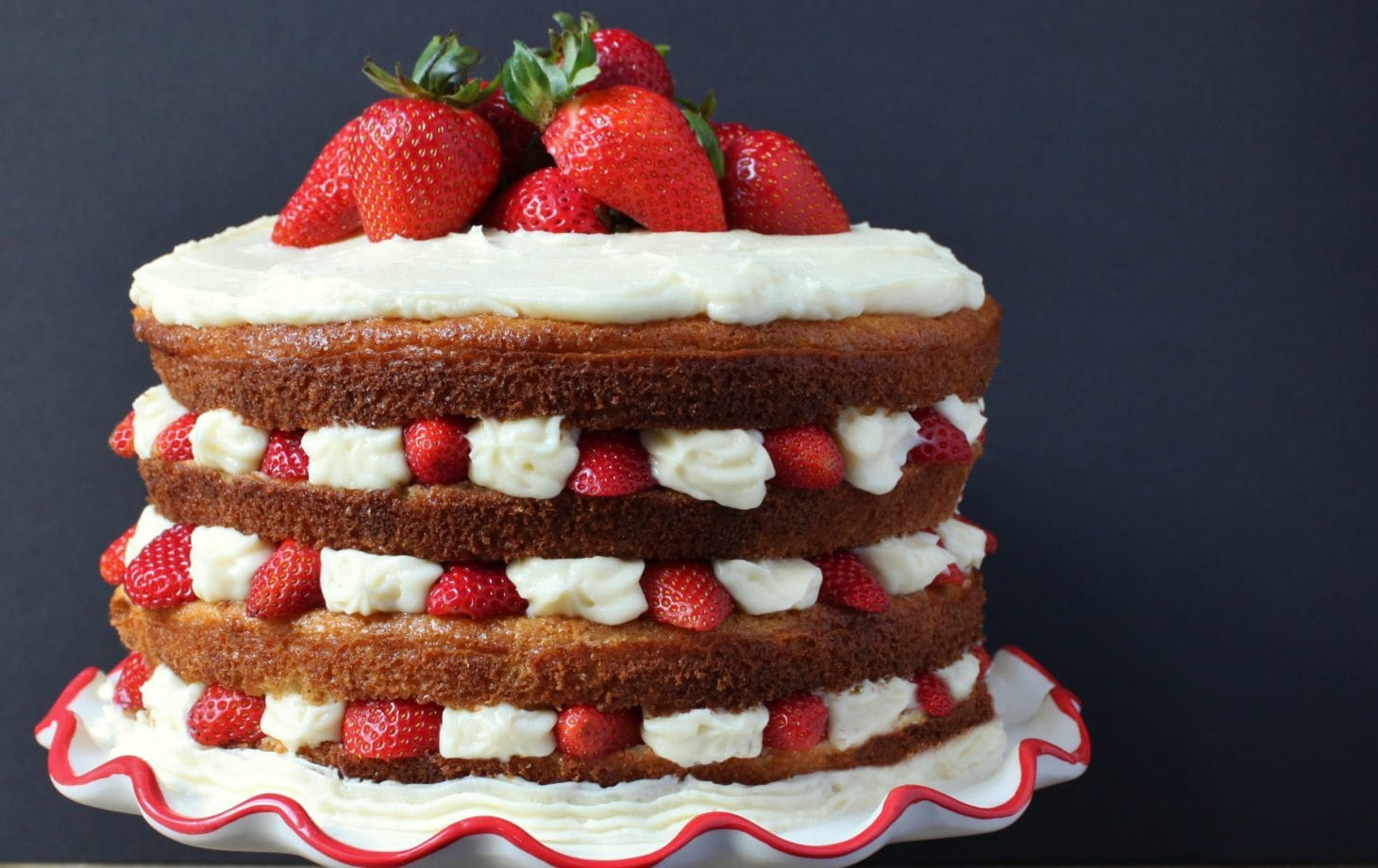 Wondrous Lemon Cardamom Layer Cake With Strawberries Mascarpone Dish N Birthday Cards Printable Nowaargucafe Filternl