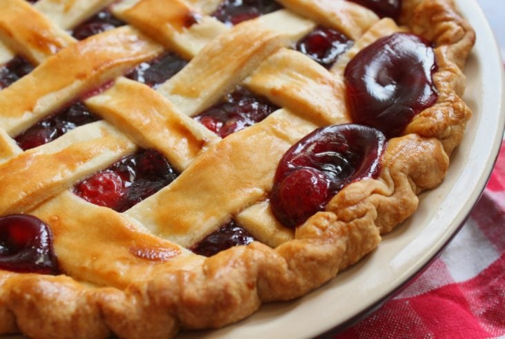 Bubbling hot Cherry Pie