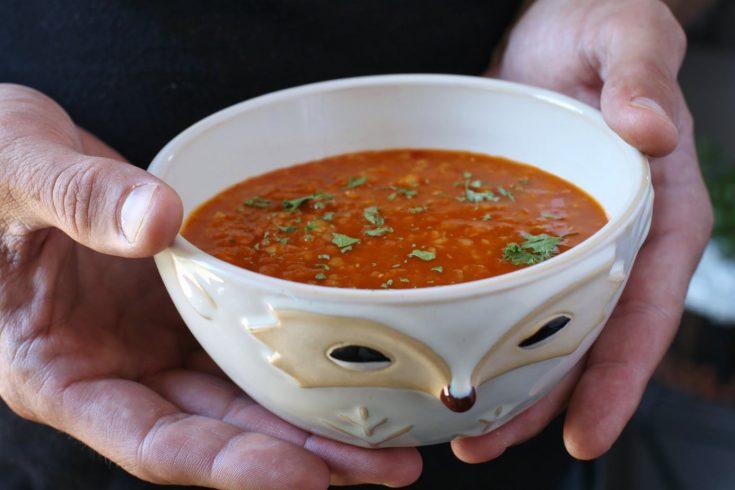 Spicy Turkish Bulgur Red Lentil Soup