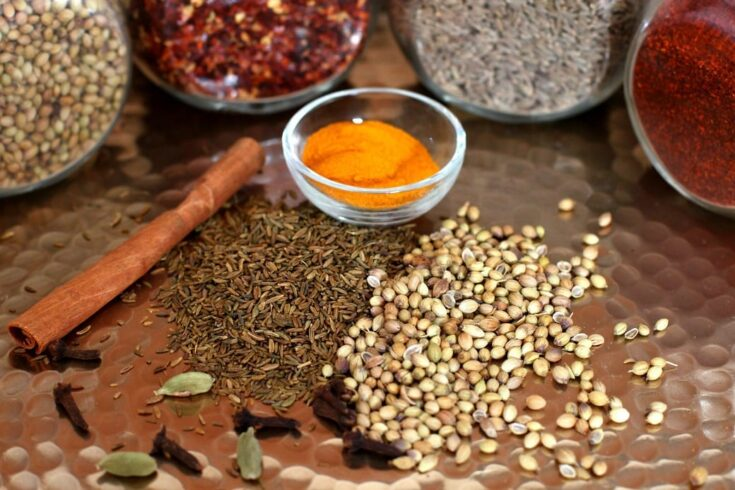 A mixture of lively spices commonly found in Indian cooking.