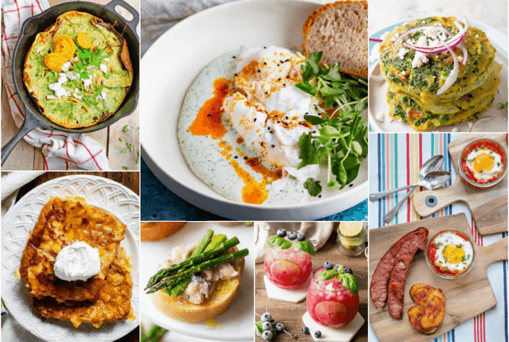 Dish 'n' the Kitchen's 30 Breakfast Ideas to help you create the ultimate weekend brunch for family or friends. #brunch #breakfast #brunchcocktails #mimosa #sangria #fritatta