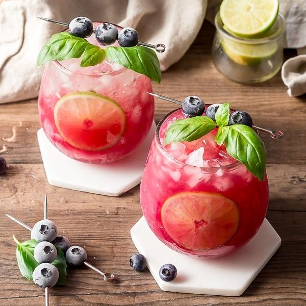 Basil Blueberry Margaritas