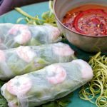 These Vietnamese Shrimp Salad Rolls are so fresh and healthy. They're easier to make than you think...you'll be rolling in no time! Served with a completely addictive authentic peanut dipping sauce. #saladrolls #VietnameseRolls