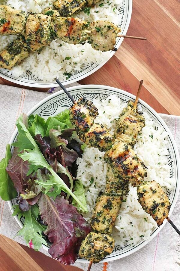 The Best Honey Lime Chicken Skewers