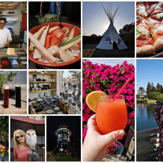 A Collage of all the great things to do and see in Lethbridge Alberta.