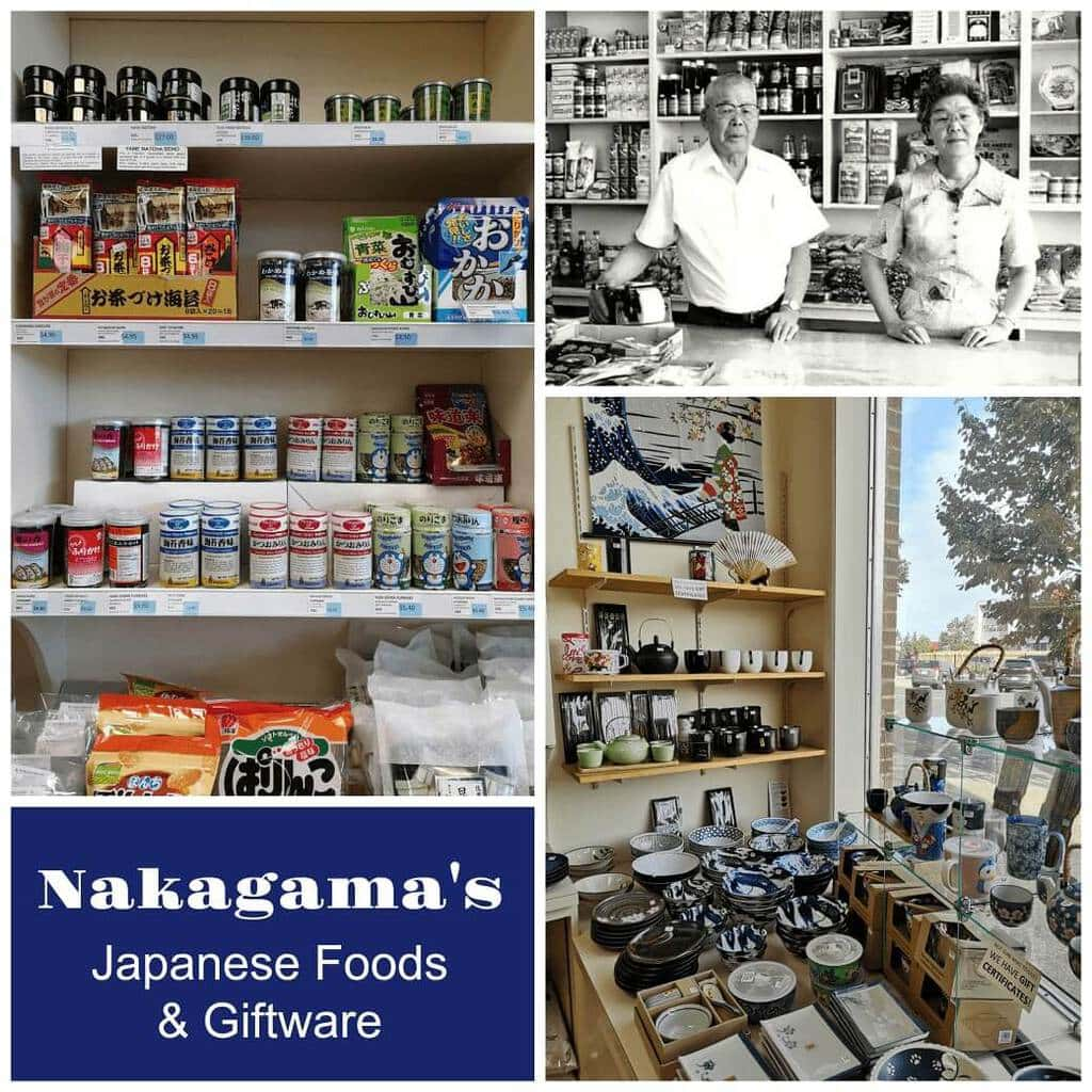 A collection of photos from historical Nakagamas Japanese Food and Giftware store in Lethbridge, Alberta.