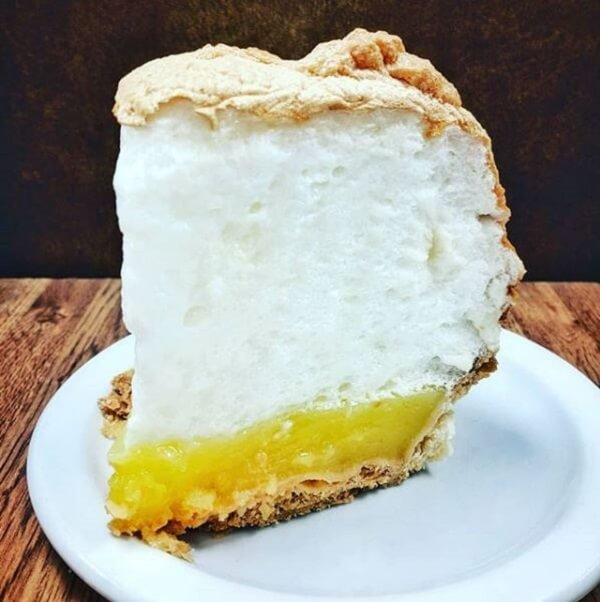 A giant slice of Lemon Meringue pie. Where to Eat in Calgary
