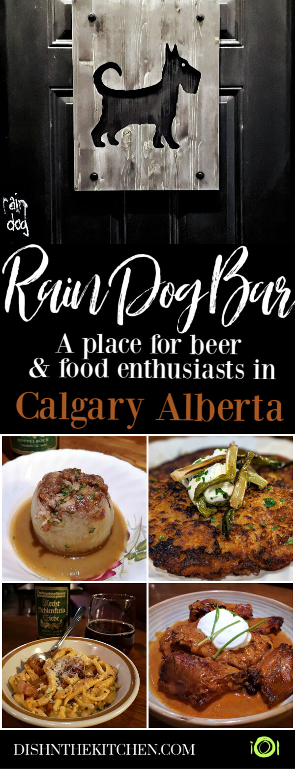 Rain Dog Bar - Pinterest image showing four of the dishes currently available at Rain Dog Bar