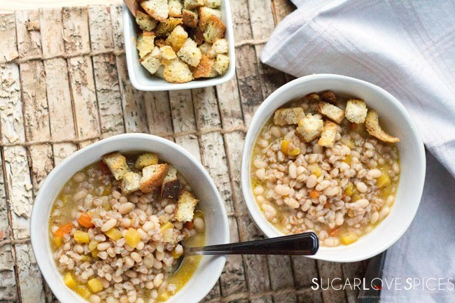 Farro and Bean Soup, Tuscan style