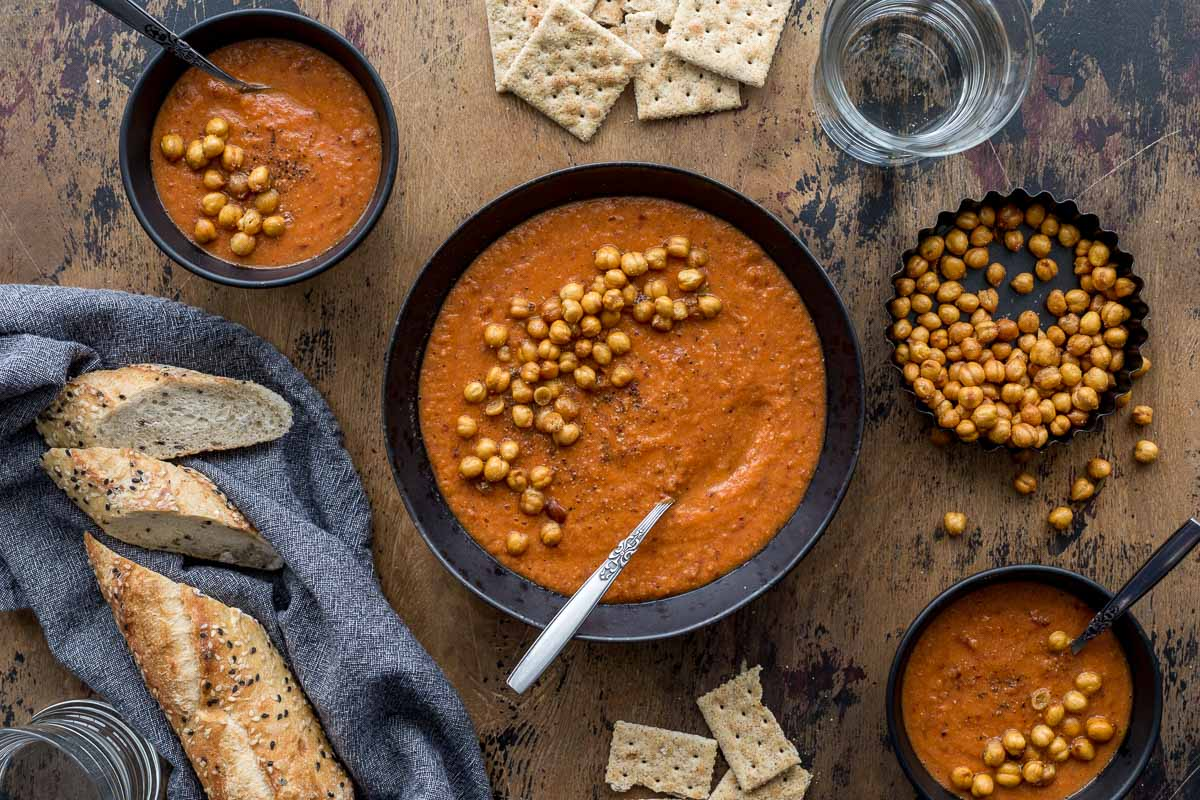 Tomato Chickpea Soup (Instant Pot and Stovetop Options)