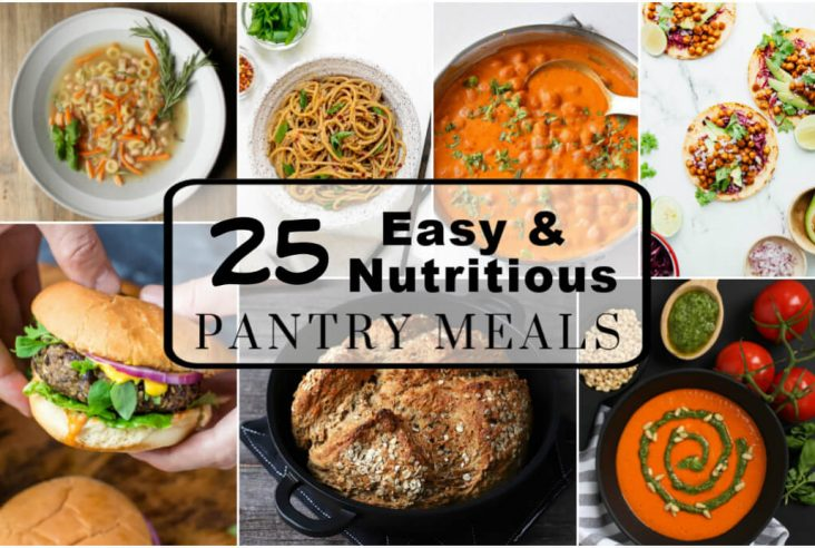 Pantry Meals - Cover shot featuring delicious pantry based meals.
