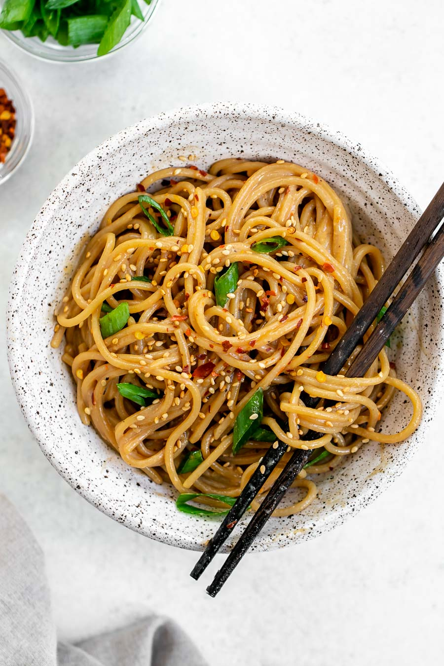 15 Minute Garlic Sesame Noodles