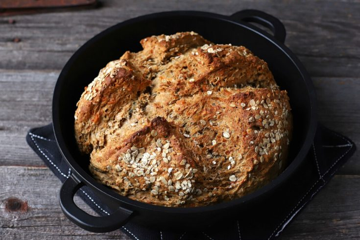 Cheesy Cheddar Stout Soda Bread